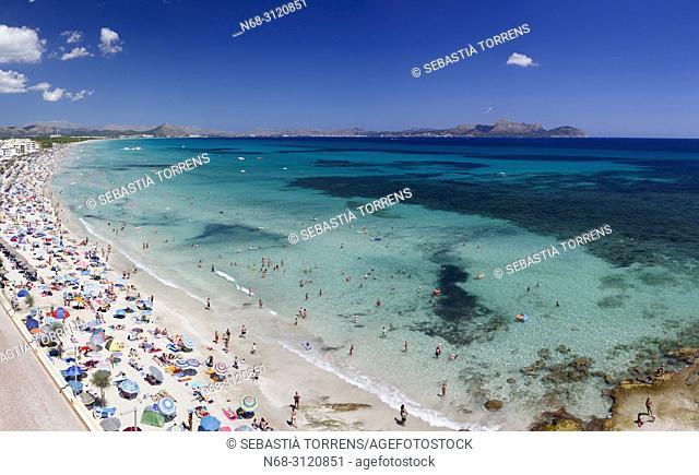 Can Picafort beach, Santa Margalida, Majorca, Balearic Islands, Spain