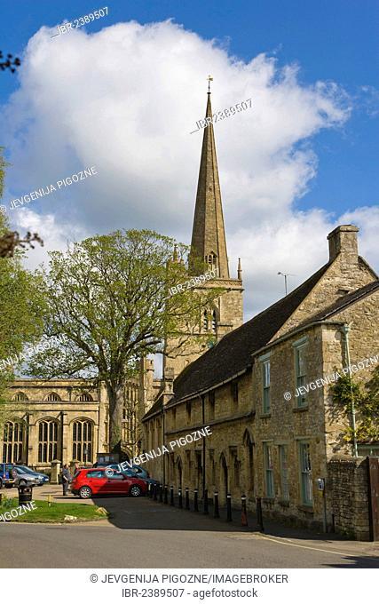 Church of England parish church of Saint John the Baptist, Burford, Cotswolds, West Oxfordshire, England, United Kingdom, Europe