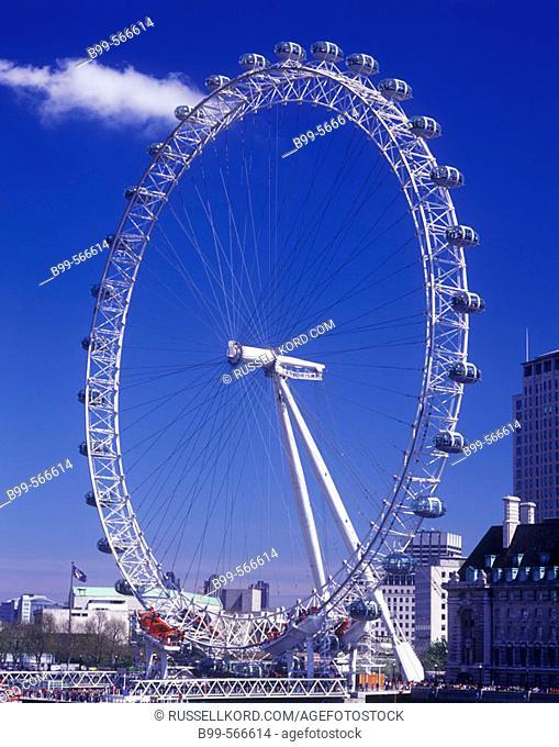 London Eye, Southbank London, England, U.K