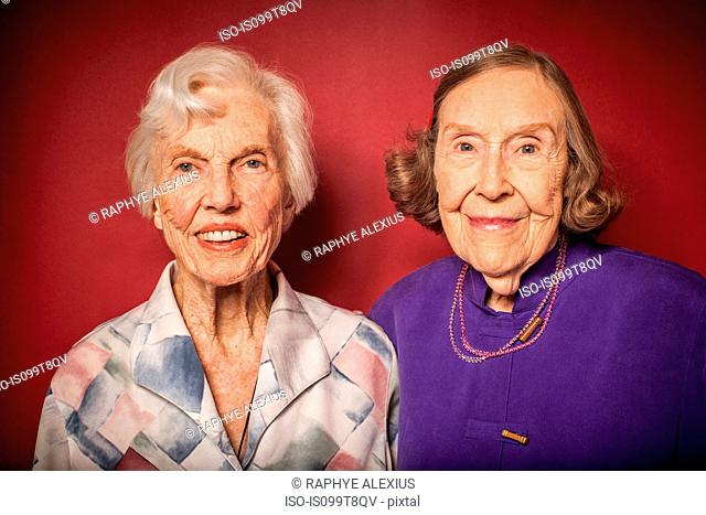 Portrait of two senior women