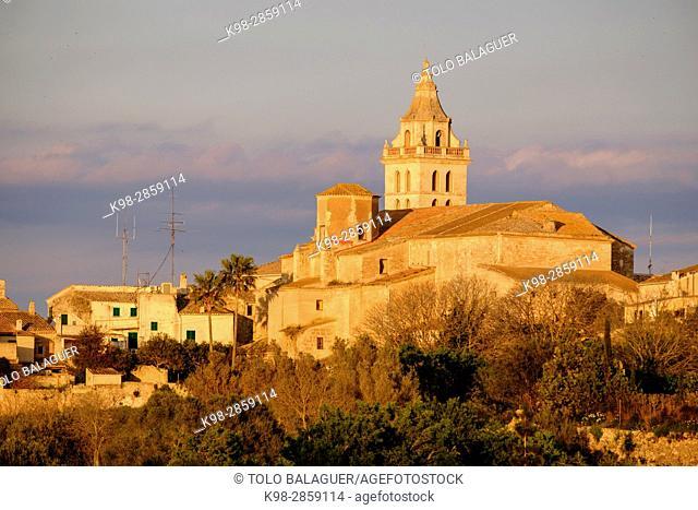iglesia de Sant Pere, siglo XVII, Sencelles, Mallorca, balearic islands, spain, europe