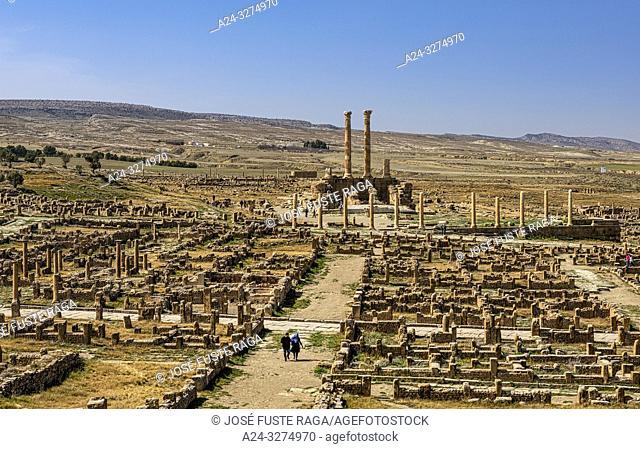 Algeria, Timgad City, Roman ruins of Timgad, UNESCO, (W. H. ), The Capitol