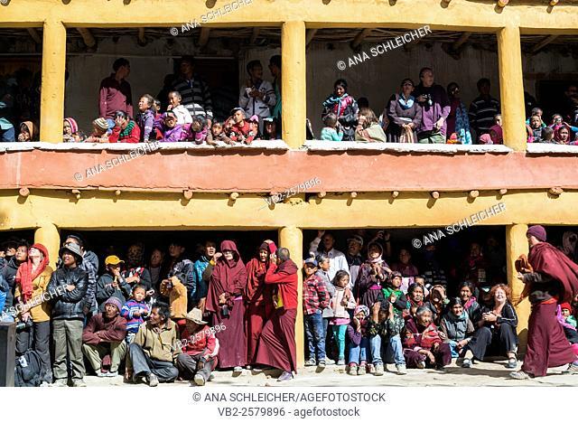 Traditional clothes. Nomad summer festival in Tso Moriri lake, Ladakh (India)