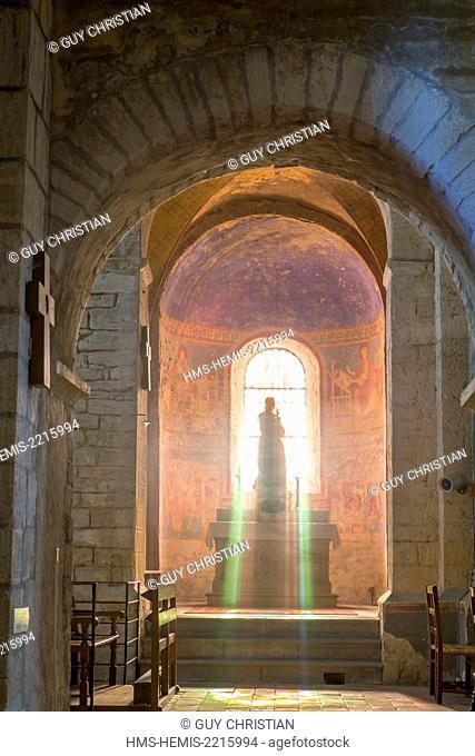 France, Saone et Loire, Anzy le Duc, church of Notre Dame de l'Assomption, Brionnais