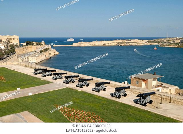 This historic fortified Grand harbour in Valletta,Malta,was a safehaven for allied forces ships in World War II