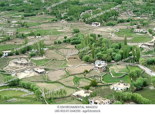 View into fertile Himalayan farming valley
