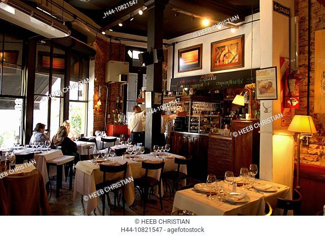 La Cabrera restaurant, inside, guests, company, catering trade, Palermo, Buenos Aires, Argentina, South America
