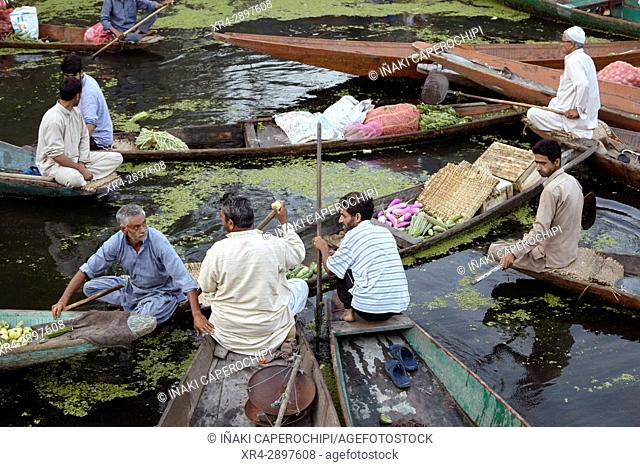 Dal Lake Floating market, Srinagar, Jammu and Kasmir, India