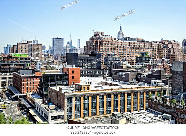 Looking Northeast from the Meatpacking District, New York City