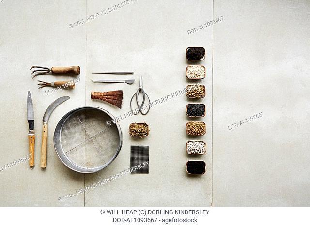 Bonsai repotting tools, and soils