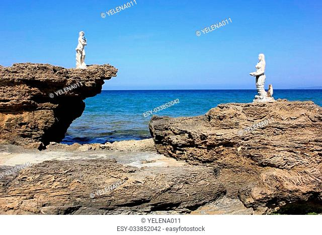 Plaka beach, Vasilikos village, Zakynthos island, South Greece