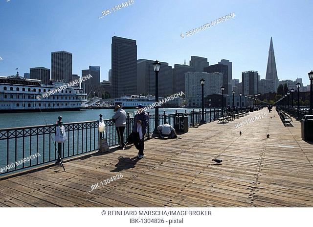 View of San Francisco from Pier 7, San Francisco, California, USA