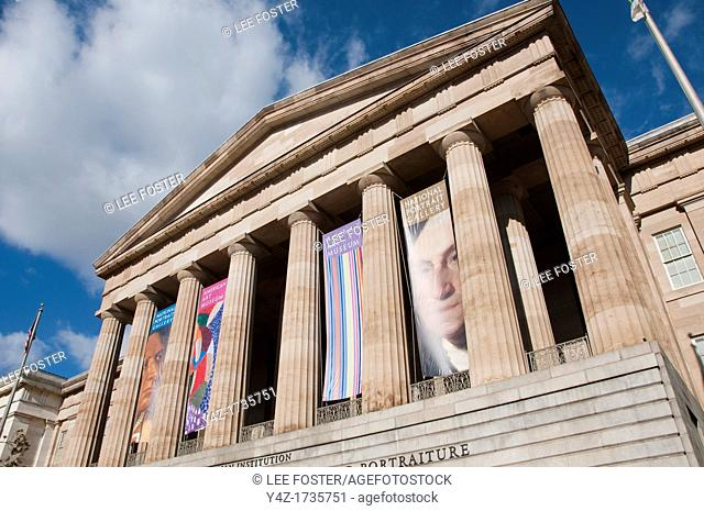 Washington, DC, National Portrait Gallery facade with its Greek column look