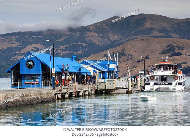 New Zealand, South Island, Canterbury, Banks Peninsula, Akaroa, Akaroa Harbor