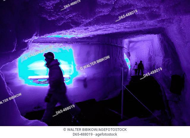 Klein Matterhorn (Matterhorn Glacier Paradise) (el. 3883 meters). Winter. Ice Cave Interior. Zermatt. Wallis/Valais. Switzerland