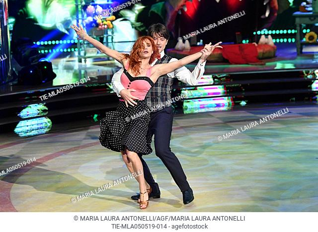 Ettore Bassi during the performance at the tv show Ballando con le stelle (Dancing with the stars) Rome, ITALY-04-05-2019