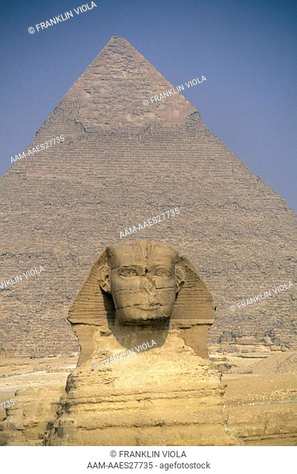 The Great Sphinx and Giza Pyramids, Cairo, Egypt