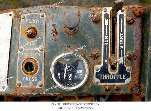Operating controls on a Godiva generator engine