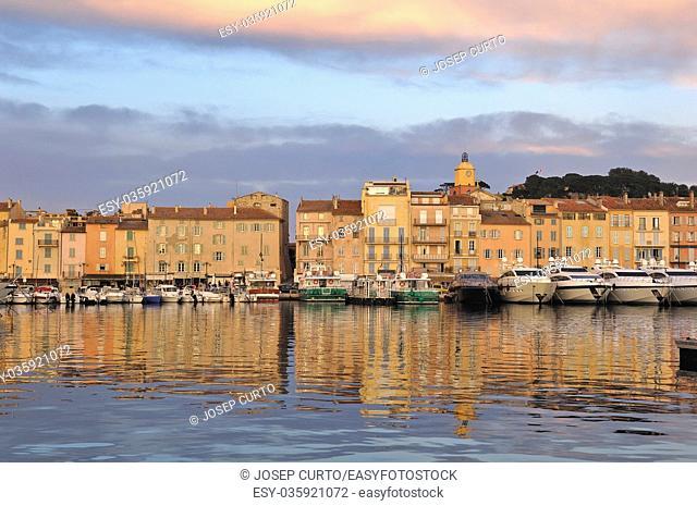 Sunset at Saint Tropez French Riviera