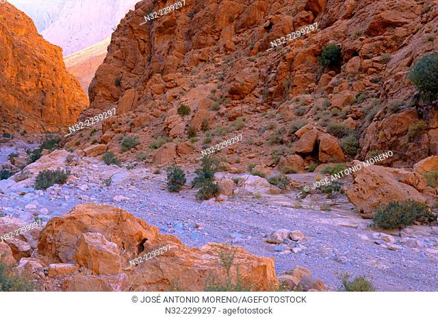 Todra Gorges, Todra valley, High Atlas Mountains, Morocco, North Africa