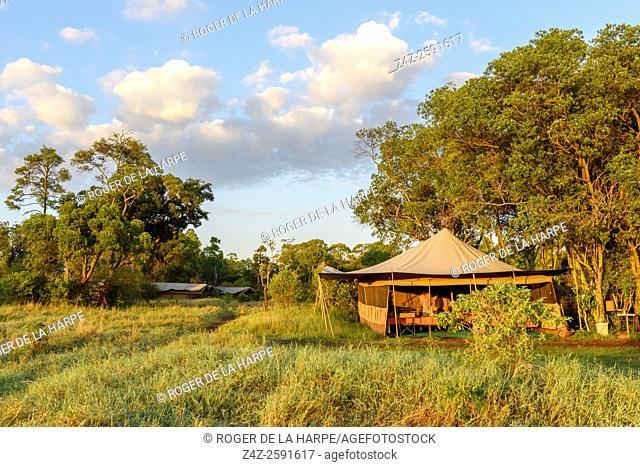Wilderness Safaris' camp near the Mara River in the north of the Serengeti National Park. Tanzania