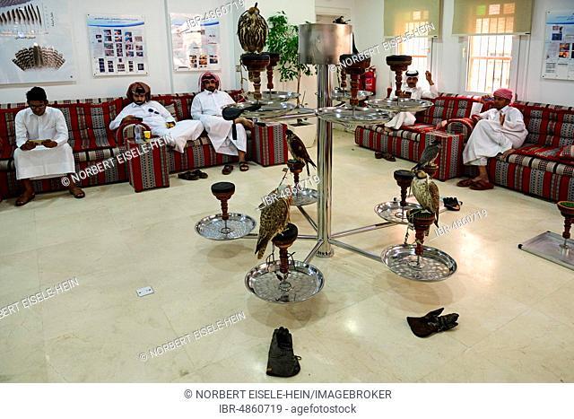 Waiting room and reception hall in Falken Hospital, Souq Waqif, Doha, Qatar