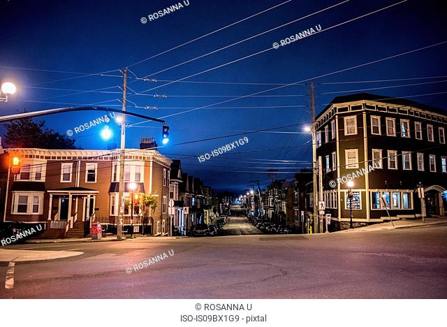 Peaceful scene in residential district, St John's, Newfoundland and Labrador, Canada