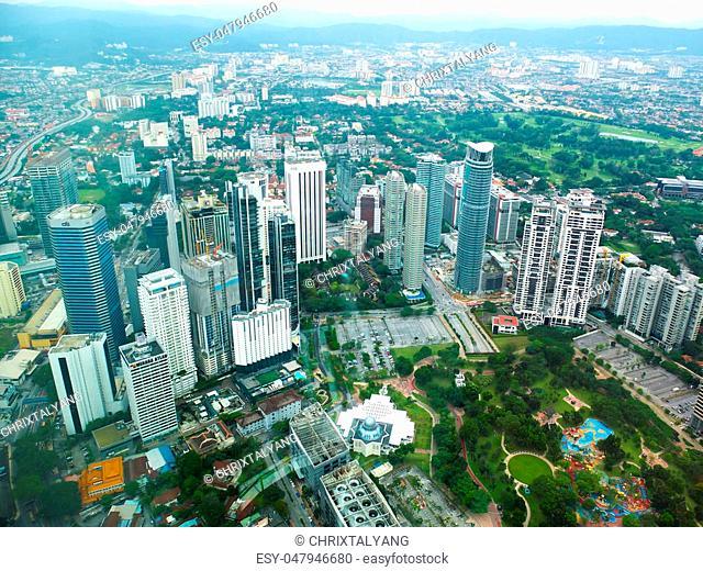 Beautiful view of Malaysian city