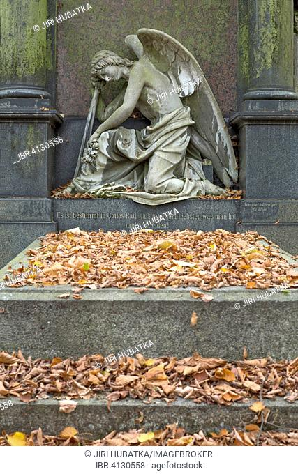 Angel, statue, cemetery, Karlovy Vary, Bohemia, Czech Republic