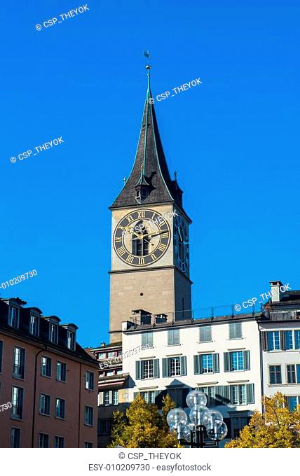 Clock tower over the buildings
