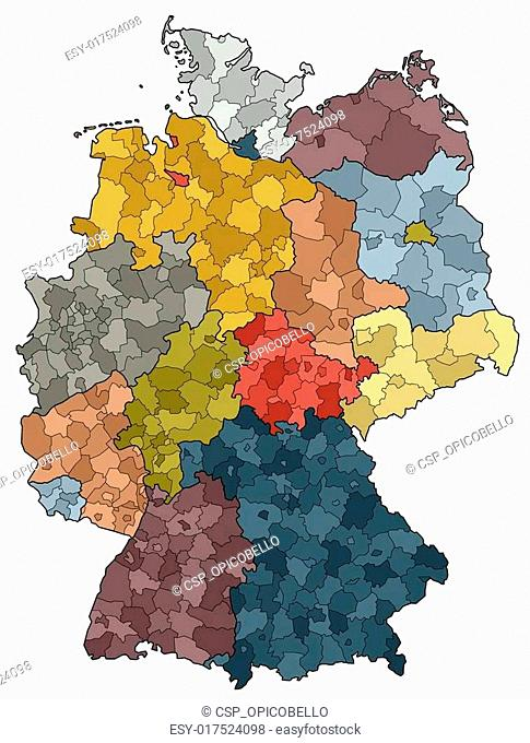 Germany Map - Provinces and districts