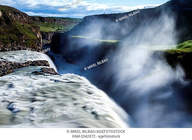 Gullfoss waterfall. Golden Circle route. Iceland, Europe