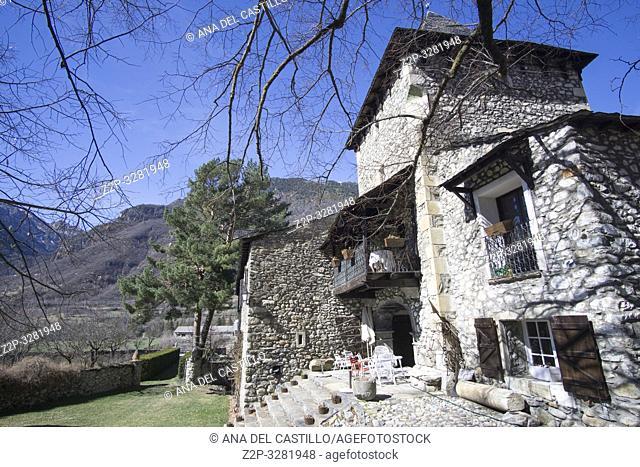 Anciles is a medieval village in Benasque Huesca Aragon Spain