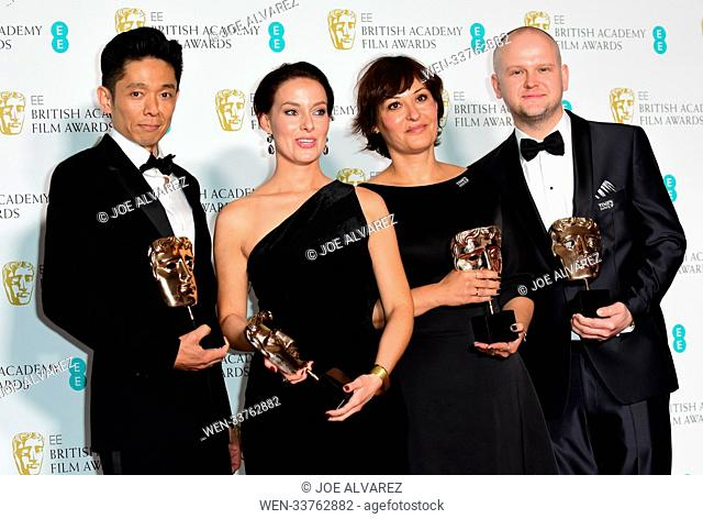 71st EE British Academy Film Awards (BAFTA) held at the Royal Albert Hall - Press Room Featuring: David Malinowski, Ivana Primorac