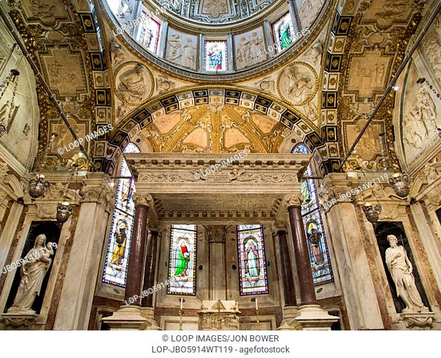 The interior of Genoa's San Lorenzo Cathedral