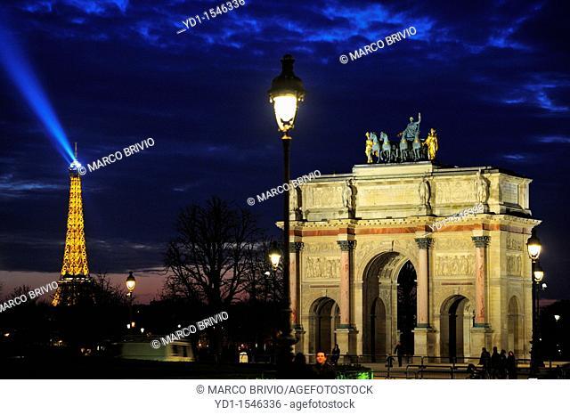 Eiffel Tower at sunset  Paris, France