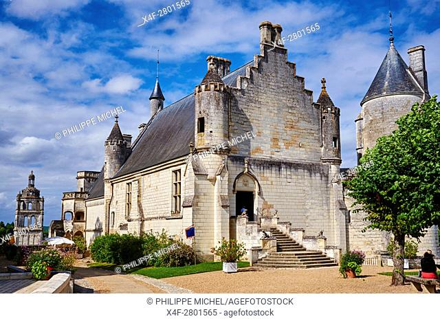 France, Indre-et-Loire (37), Loches, Royal castle and dwelling