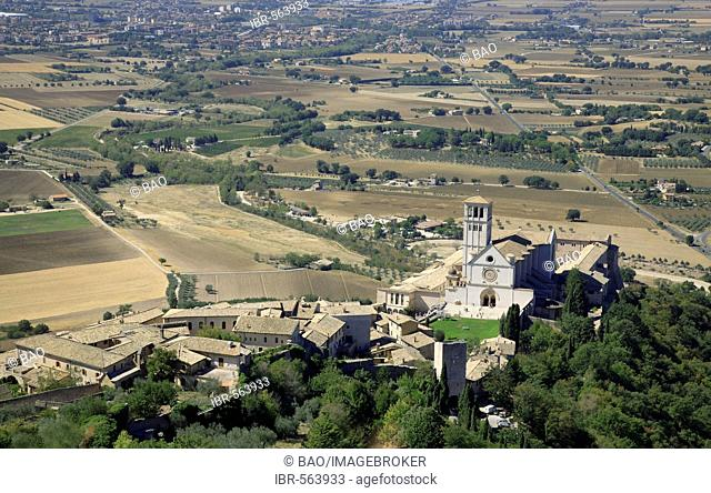 The Basilica of San Francesco d'Assisi, Assisi, Umbria, Italy