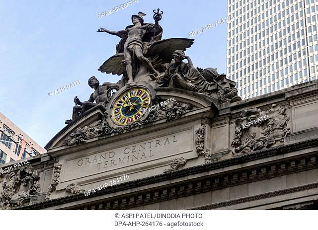 Grand Central Terminal railway station building, New York City, USA