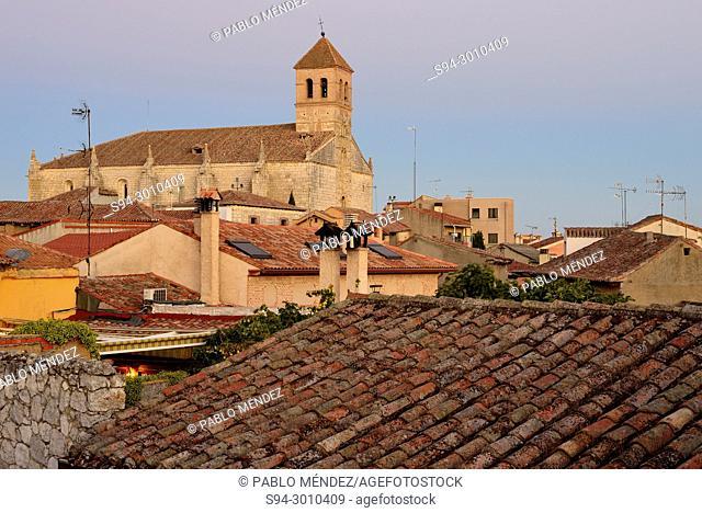 View of the church of El Salvador in Simancas, Valladolid, Spain