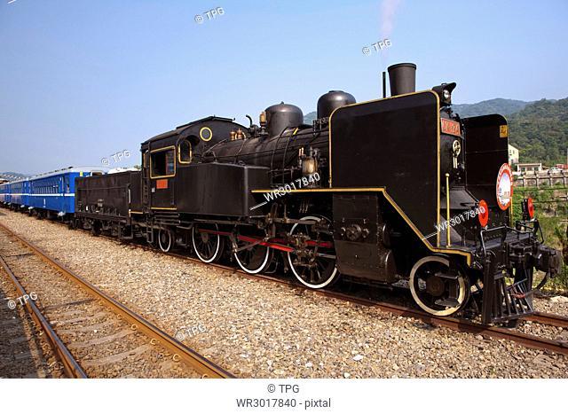 Shihfen station,CK124 steam train