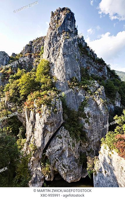 The Carpathian Mountains, Cerna valley near Baile Herculane  Europe, Eastern Europe, Romania, September 2009