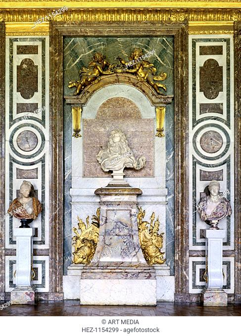 Bust of Louis XIV, Salon de Diane, Grand Apartment, Chateau de Versailles, France, 17th century