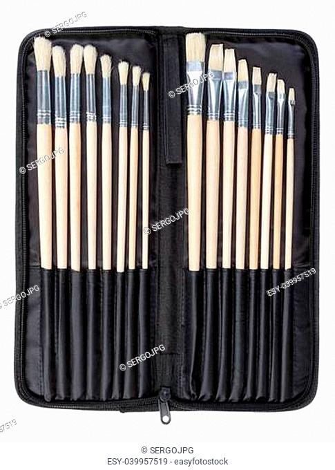 A set of brushes for painting in the cover art. On a white background