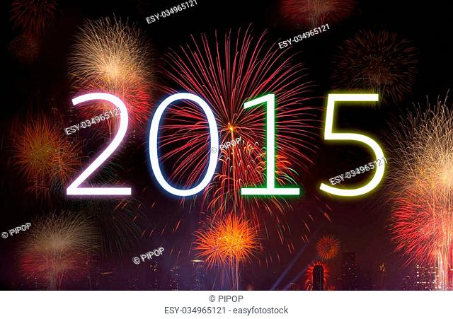 New year concept, celebrations concept with real fireworks