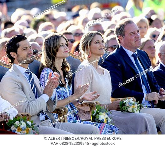 Princess Madeleine and Christopher O?Neill.Prince Carl Philip and Princess Sofia of Sweden at the Borgholm Sports Arena in Borgholm, on July 14, 2019