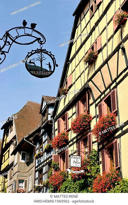 France, Haut Rhin, Alsace Wine Route, Riquewihr, labelled Les Plus Beaux Villages de France (The Most Beautiful Villages of France)
