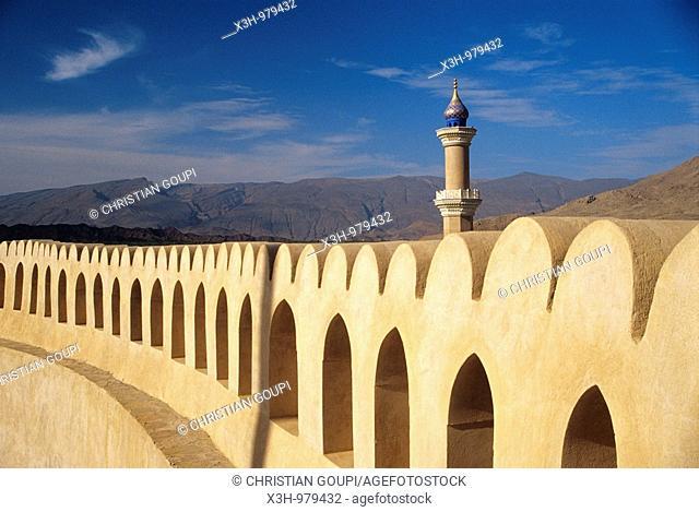 Fortress and mosque of Nizwa,Sultanat of Oman,Arabian Peninsula,Southwest Asia