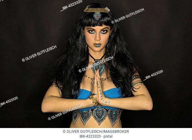 Young Woman as Cleopatra, Fashion, Art, Portrait