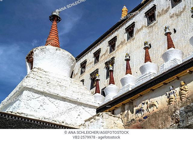 Buildings of Thicksay gompa, Ladakh, India